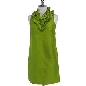 Kate Spade Lucille Ruffle Dress Size 10 Green